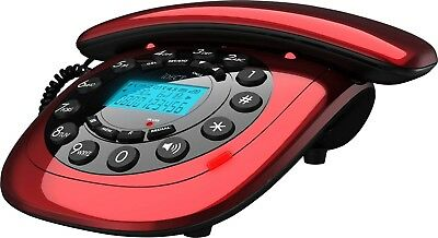 iDECT Carrera Red Corded Telephone (A-) + 90 Days WARRANTY