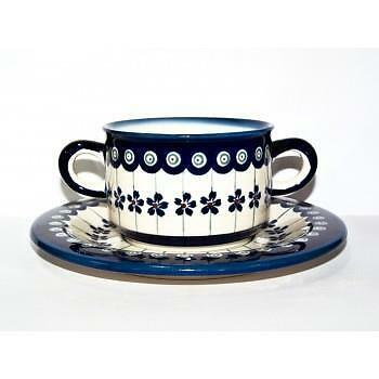 Boleslawiec Ceramic Polish Pottery Broth Bowl GU 900/908