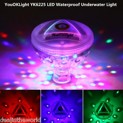YouOKLight RGBW LED Waterproof Underwater Light Swimming Pool Floating Lamp