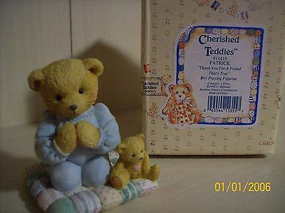 """Cherished Teddies-Patrick """"Thank You For a Friend That's True"""""""