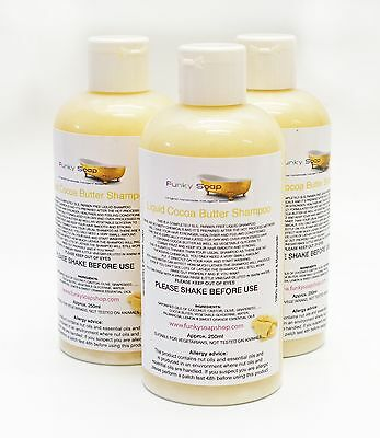 1bottle Liquid Cocoa Butter Shampoo 100% Natural SLS Free 250ml
