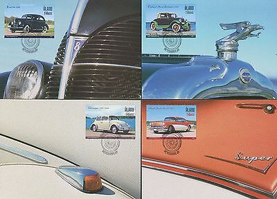 Aland 2005 FDC Maxi Card - Old Cars - Oakland Cabriolet Ford Buick Volkswagen