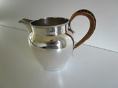 Silver Plated Water / Lemonade Jug..Wicker Handle..Circa 1910..