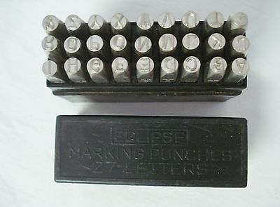 27 Eclipse 5mm Marking Punches Alphabet Letters Punch Stamp Set England