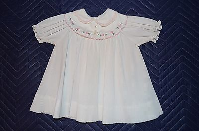 Vintage Tiny Tots Orig. Embroidered Pleated Dress Size 12 Months?