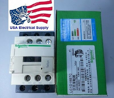 New Schneider LC1D18B7C Contactor with coil  24V 50/60Hz