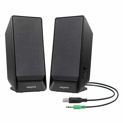 Creative 2.0 Channel SBS A50 Speaker System Computer PC Compact 3.5mm USB