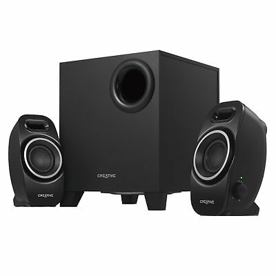 Creative 2.1 Channel SBS A250 Speaker System Computer PC Compact Bass 3.5mm