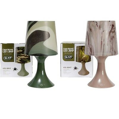 Special Offer Kids Army Bedside Led Lamp Battery Or Usb Camo Boys Bedroom Light