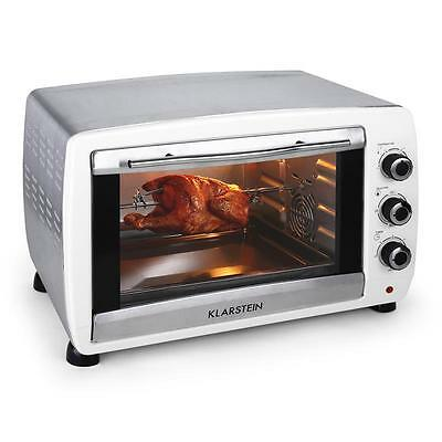 Mini Convection Oven Klarstein 2000W Kitchen Ovens 45L White Restaurant