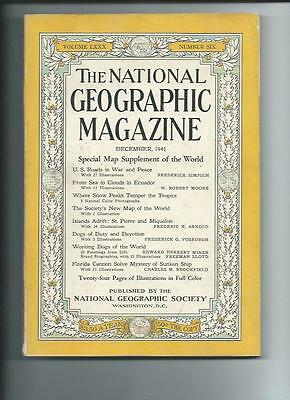 December 1941 National Geographic Magazine-Coca-Cola Add On Back With Map