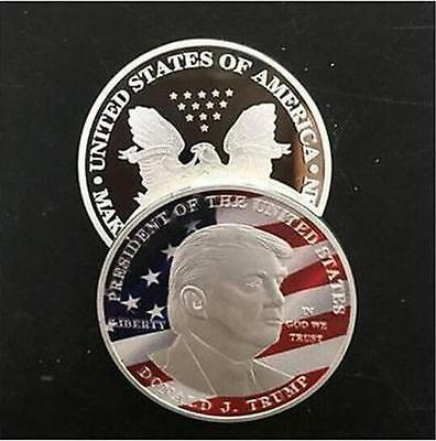 2017 Donald Trump Silver Eagle Coin Make America GREAT Again 45th President F10
