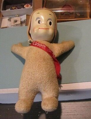 "1961 Mattel Casper The Friendly Ghost Talking 15"" Tall Doll Original Sash Works!"