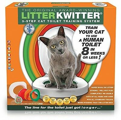 Litter Kwitter Cat Toilet Training System Pet Supplies fits Standard Toilet