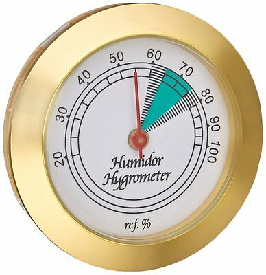 Prestige Import Group HYB134 Cigar Hygrometer with Brass Frame.