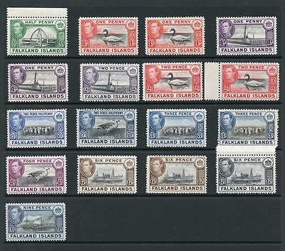 Falkland Islands 1938-50 to 9d inc all listed shades SG146/57 MNH cat £149