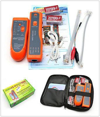 Cable Finder Tone Generator Probe Tracker Wire Network Tester Tracer Kit +Bag UK