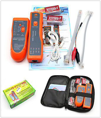 Wire Cable Tracer Tone Generator Finder Probe Tracker Network Tester+ 9V Battery