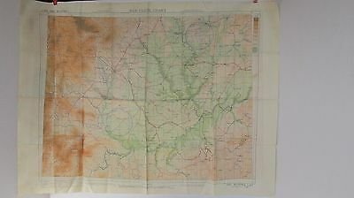 WWII US AAF Airman's 'Escape Maps' SILK CLOTH CHART (C384,495) Wei R, Omei Mtn