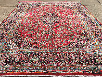 10x13 PERSIAN RUG HANDMADE HAND KNOTTED WOVEN 10 x 13 rugs wool antique 9 12 red