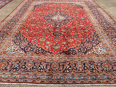 10x13 PERSIAN RUG HANDMADE HAND KNOTTED WOVEN 10 x 13 rugs wool antique red 9 12