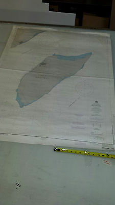 Antique Vintage US Navy Nautical Chart  Aeronautical Map   Cozumel Island MEXICO