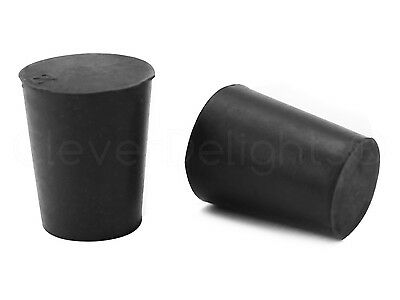 50 Pack - Solid Rubber Stoppers - Size 2 - 20mm x 16mm x 25mm Long - Lab #2