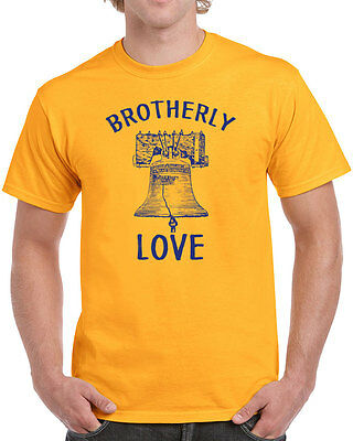 296 Brotherly Love mens T-shirt philly philadelphia pride vintage retro