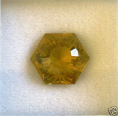 Heliodore Natural Vivid Yellow 24.47 ct Pakistan Certificate