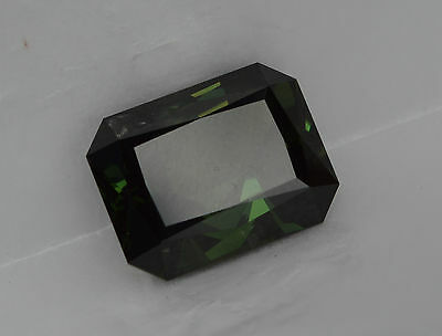 Sapphire 14.22 ct Deep Green Coloured Natural Earth Mined Certified