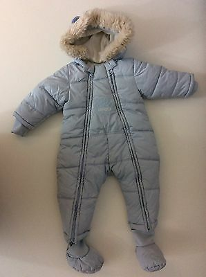 KENZO Blue All In One Tiger Pram Suit Snowsuit Fleece Lined Age 9 Months /71