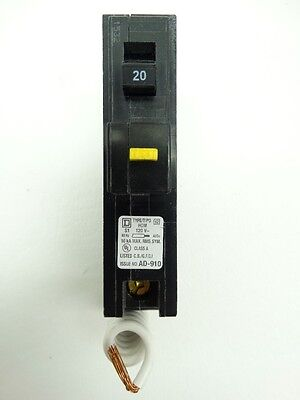 NEW Square D HOM120GFI HomeLine Ground Fault Circuit Breaker 20 AMP Plug-on