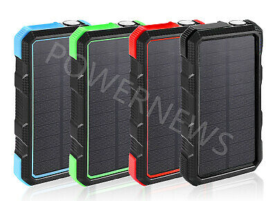 900000mAh Waterproof Dual USB Portable Solar Battery Charger Solar Power Bank US