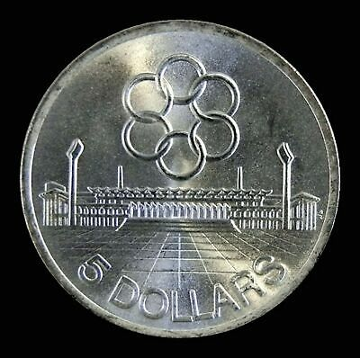 1973 SILVER SINGAPORE 7th SOUTHEAST ASIA PENINSULAR GAMES $5 COMMEMORATIVE COIN