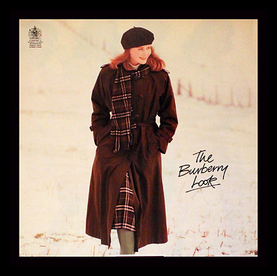 1987 Burberry Clothing Ad - Brown Trench Coat - 1980s Fashion Advertising Page