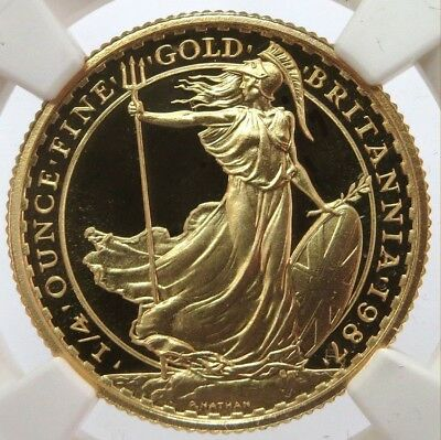1991 Gold Great Britain 25 Pounds Coin Ngc Proof 69 Ultra Cameo Only 750 Minted