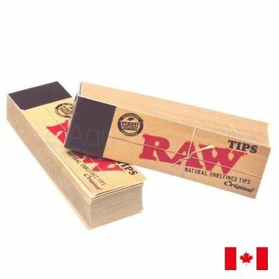 RAW Regular Roach Authentic Unrefined Filter Tip 50 Sheets - 2 Packs
