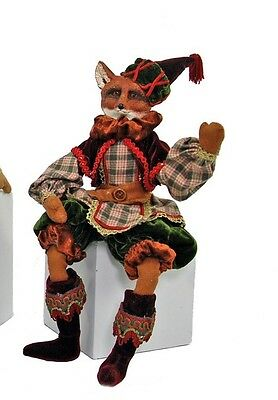 Katherine's Collection Woodland fox lanky leg doll 18""