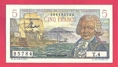 Cameroun/French Equatorial Africa 1957 (ND) 5 Francs Note P-28