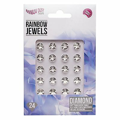 Rainbow Dust Edible Jewels Gems - Pack of 24 - Cake Sugarcraft - Many Colours