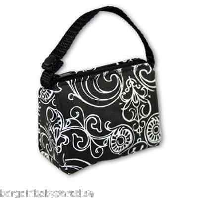 BooginHead Black Flourish PaciPouch Pacifier Holder Bag Paci Pouch Baby Gift