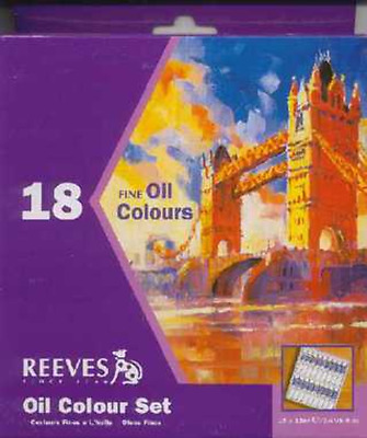 Reeves oil Paint Set 18 x 12 ml Tubes
