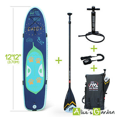 "Pack stand up paddle gonflable géant familial super trip 12'2"" épaisseur 15cm av"