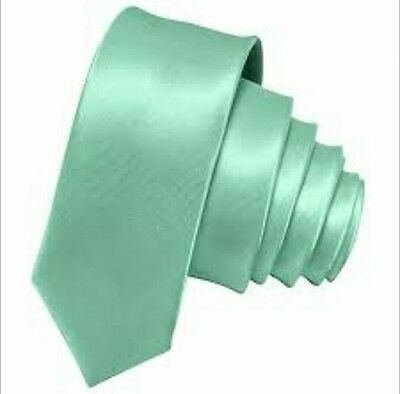 Mint Green satin tie for kids boy toddler or baby