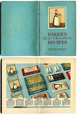 1932   Baker's Best Chocolate Recipes ~ Walter Baker & Co. ~ Cocoa Desserts