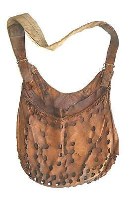 Rare 19Th Century Leather Bird Hunter's Game Bag