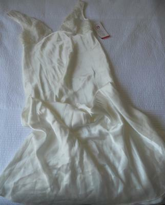 Nwt Ooh La La! Gorgeous Lovable Ivory Polyester Satin Nightie Lace Top Size S
