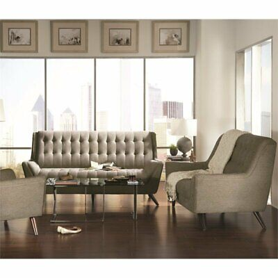 Awe Inspiring Coaster Chaviano 2 Piece Tufted Sofa Set In White Alphanode Cool Chair Designs And Ideas Alphanodeonline