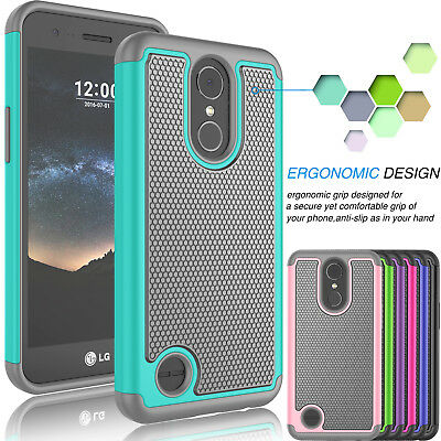 Armor Shockproof Rugged Rubber Hard Case Cover for LG K20 Plus / K10 (2017) / V5