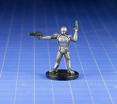 Star Wars miniatures minis Bounty Hunters Mandalorian Soldier #58 & Card WOTC